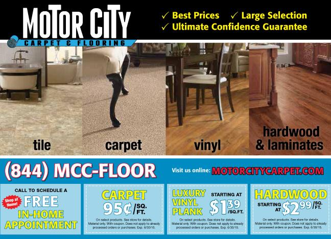 Carpet and flooring specials from motor city carpet flooring for Motor city carpet royal oak